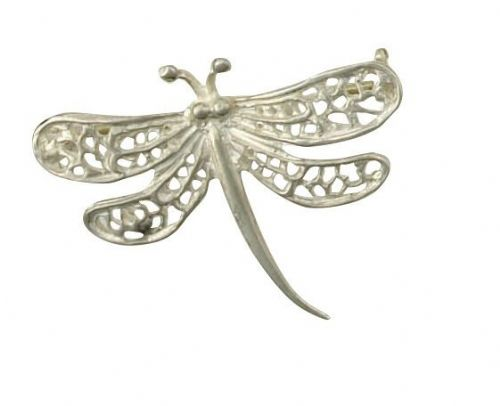 Dragonfly Brooch Solid Silver Handmade to Order British Hallmarked Boxed